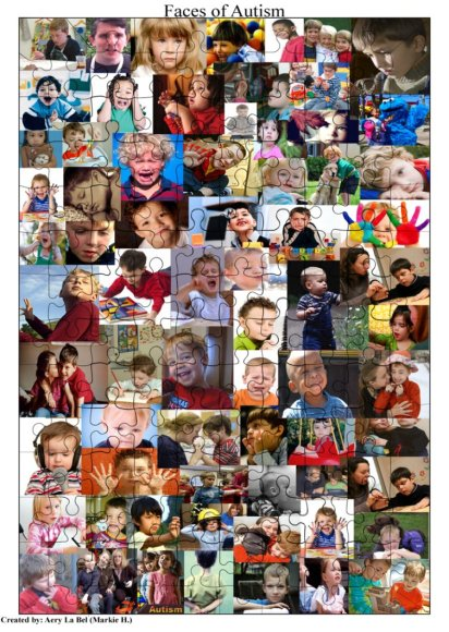 Faces of Autism via deviantart.com