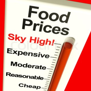 Food prices sky high.